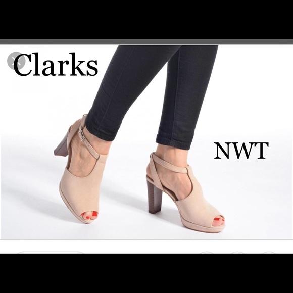 231d04c6667c Clarks Kendra Charm Suede Heels